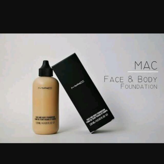 With Freebie Mac Face And Body Foundation