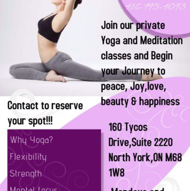 Yoga,meditation, And Tai Chi Classes