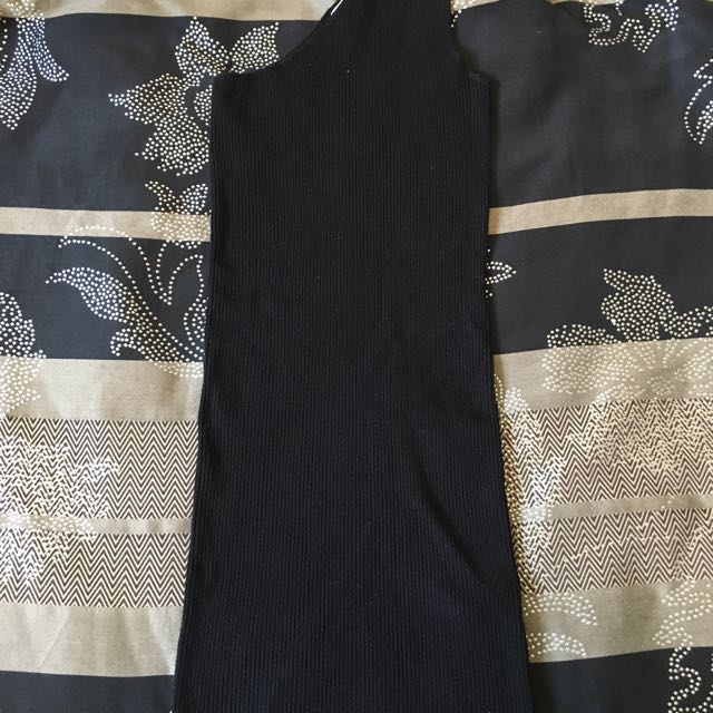 Zara One Shoulder Knit Dress