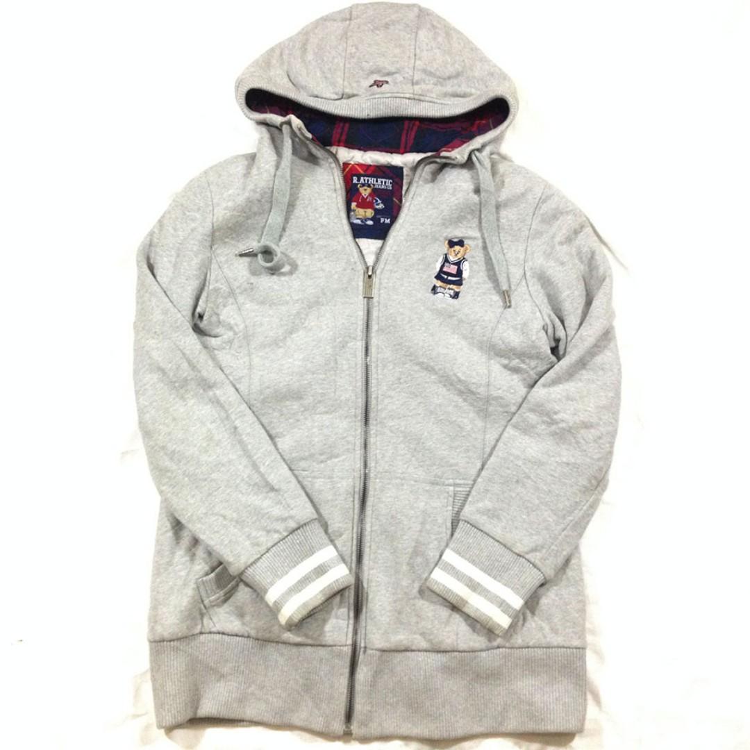 Zip Hoodie R. Athletic Bear M Second import Murah