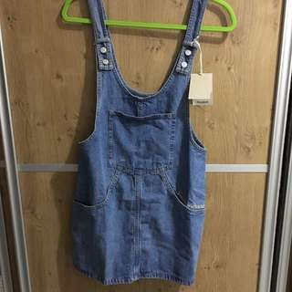 Pull And Bear Demin Skirt Overall