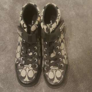 100% Authentic Limited Edition COACH High Cut Shoes