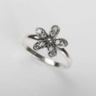 Solid 925 Sterling Silver Flower Ring Clear 5A CZ Hight Quality Wedding Jewelry For Women