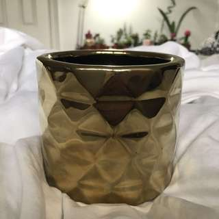 Gold Pineapple Looking Pot