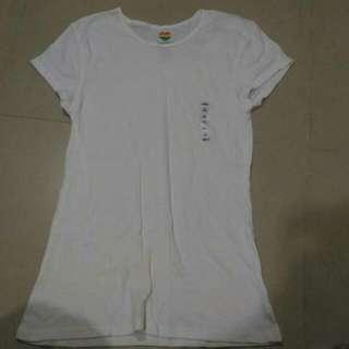 全新OLD Navy白色短袖上衣XL號