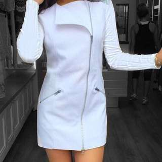 BLK SHEEP CLOTHING White Vest dress