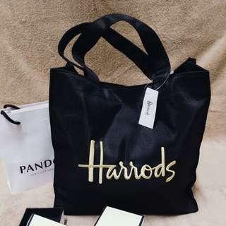 Harrods哈洛德繡金手提包