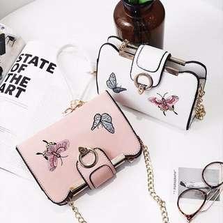 蝴蝶刺繡包