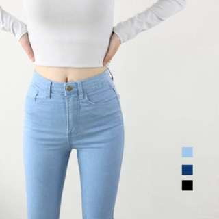 American Apparel Light Wash Blue Skinny Jeans