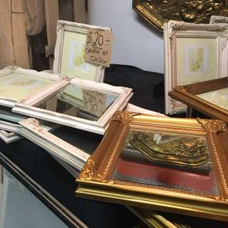 VINTAGE STYLE MIRRORS + PICTURE FRAMES GOLD WHITE NEW