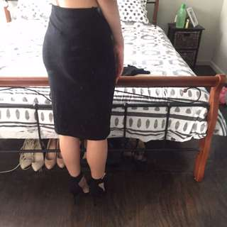 New Black Long Pencil Skirt