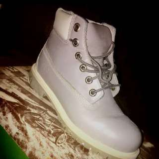 Size 3 Youth/Women's Size 5 - Timberland Grey Leather