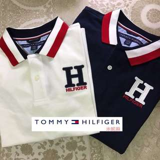 Tommy Hilfiger 青年版 Polo衫 絕版 大Logo 短袖上衣 經典款