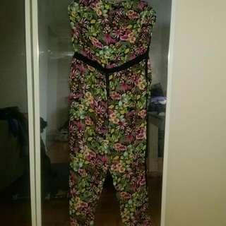 Plus Size Strapless Jumpsuit- Size  2x