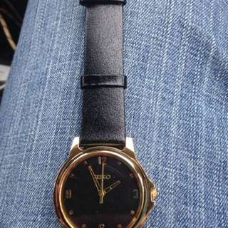 Gold And Black Seiko Watch -Reduced