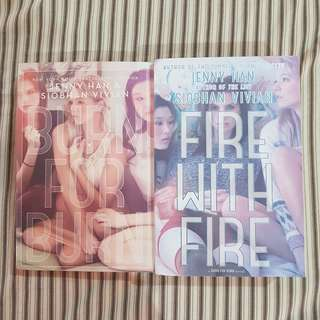 LOT OF 2 BURN FOR BURN, FIRE WITH FIRE-JENNY HAN
