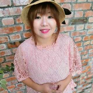 KATZE 絕美蕾絲飛鼠袖(粉色)