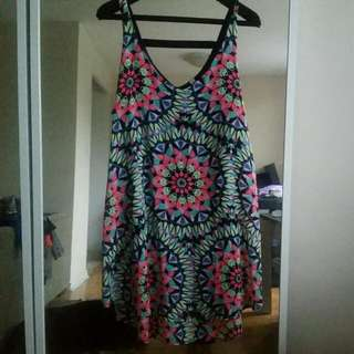 Kaleidoscope print Shift Dress- Size XL
