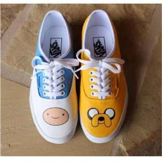 Fin And Jake Adventure Time Hand Painted Shoes