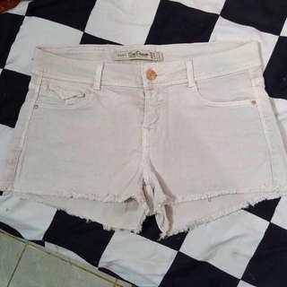 zara white short pants