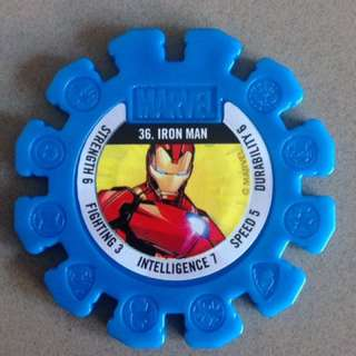 Woolworths Marvel Heroes Super Disc #36 Iron Man (Rare)