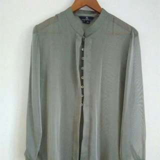 Blouse Shirt Kantor Branded PS Office Look