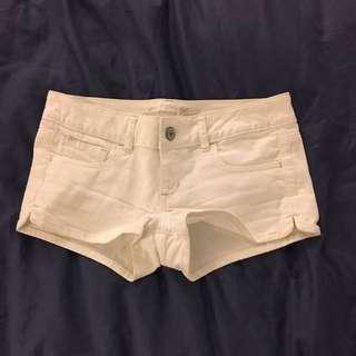 American Eagle White Denim Shorts.