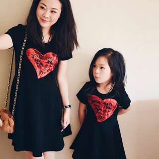 Mommy & Princess Heart Shape Dress
