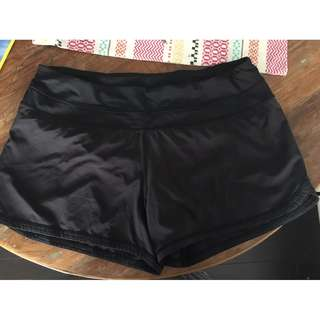 Lulu Lemon work out shorts, size 8