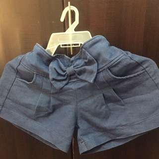 Cute Denim Ribbon Shorts