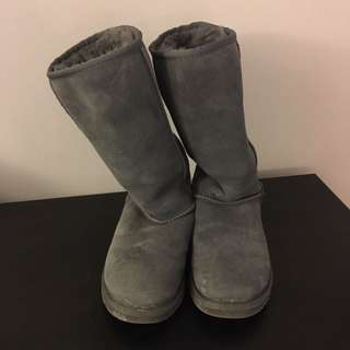 Authentic Grey Tall UGG Boots