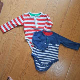 Mothercare Stripe Onesie SOLD AS LOT