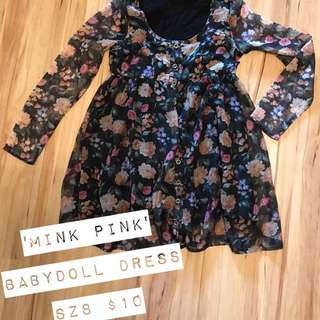 Mink pink Babydoll Dress
