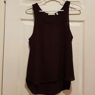 Aritzia Babaton Dark Purple Blouse - Never Worn! Size Small