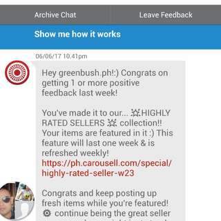 1st Feed Back!Thank You Carousell!
