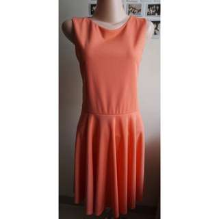 CHIC SIMPLE- Orange Lace Backless