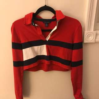 Vintage Long Sleeve Tommy Cropped