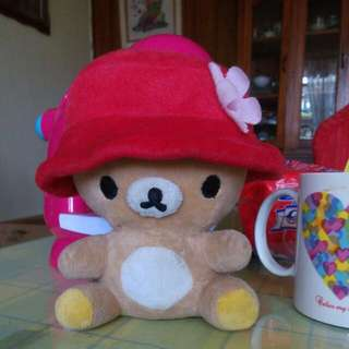 little bear with hat stuffed toy
