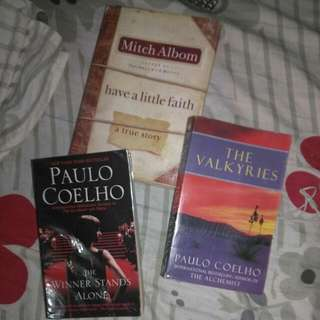 mitch albom-have a little faith paolo coelho the valkyrie and the winner stands alone 3 for 500