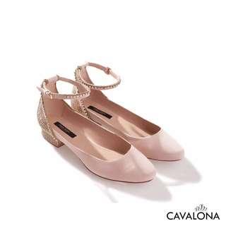[SOLD] [Branded] Zara Ballerina with Shiny Ankle Strap Flat Shoes Zara dengan Straps