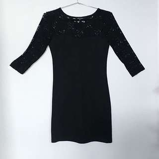 Mini Black Dress Forever 21