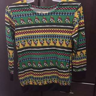 Sweater Tribal Print