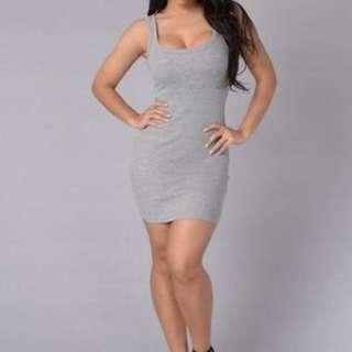 Basic Dark Grey Tank Dress
