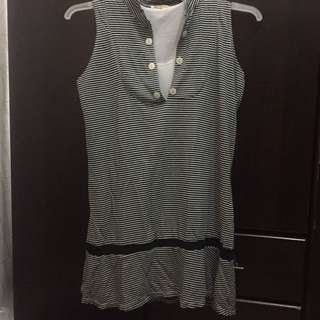 Soda By Pink Sleeveless Top Stripes