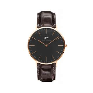 Authentic/Legit/Original Daniel Wellington Classic Black York 40mm Rosegold Watch