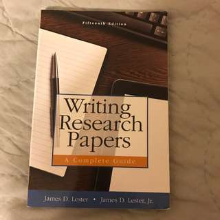 Writing Research Papers: A Complete Guide 5th Edition