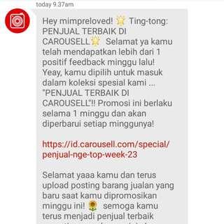 Terima kasih Carousell