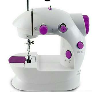 BNIB Mini Household Purple Electric Sewing Machine 2 Speed Adjustment with Light Foot Pedal