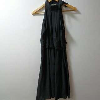 Unica Hija Halter Chiffon Dress