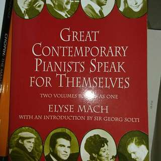 New Great Contemporary Pianist Speak For Themselves By Elyse Mach